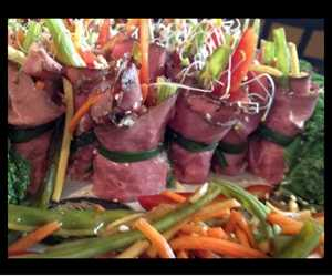 Our Asian Beef Roll-ups!