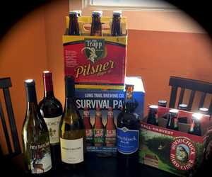 Just some of our great selection of beer and wine, including your VT favorites!